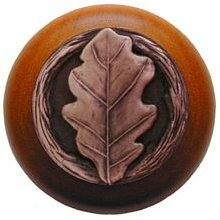 Notting Hill Cabinet Knob Oak Leaf/Cherry Antique Copper