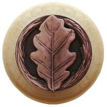 Notting Hill Cabinet Knob Oak Leaf/Natural Antique Copper