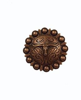 Buck Snort Lodge Decorative Hardware Cabinet Knobs Steer Round