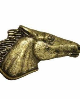Buck Snort Lodge Hardware Cabinet Pulls Horse Head Right Facing