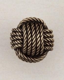 Acorn Manufacturing Monkey Fist Cabinet Knob Antique Brass