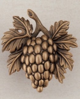Acorn Manufacturing Grapevines Cabinet Knob MUSEUM GOLD