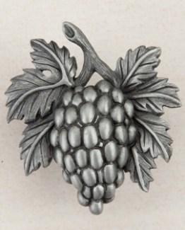 Acorn Manufacturing Grapevines Cabinet Knob Antique Pewter