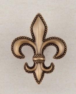 Acorn Manufacturing Fleur-De-Lis Cabinet Knob Museum Gold