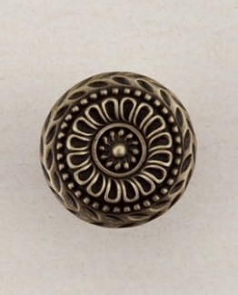 Acorn Manufacturing Lace Circle Cabinet Knob Antique Brass