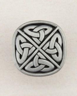 Acorn Manufacturing Celtic Square Cabinet Knob Antique Pewter