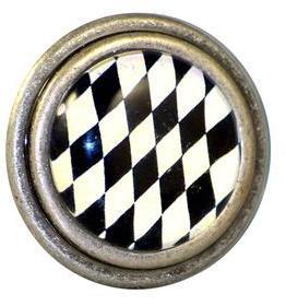 Charleston Knob Company Black White Harlequin Cabinet Knob