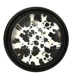 Charleston Knob Company Black White Cow Hide Pattern Cabinet Knob