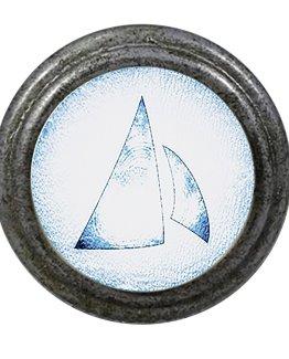 Charleston Knob Company Blue White Schooner Sails Cabinet Knob