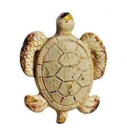Charleston Knob Company Whitewash Turtle Cabinet Knob