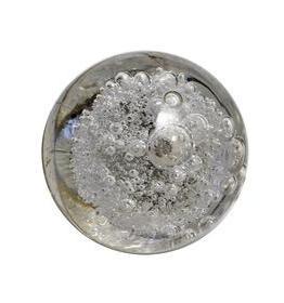 Charleston Knob Company Clear Bubble Glass Round Cabinet Knob