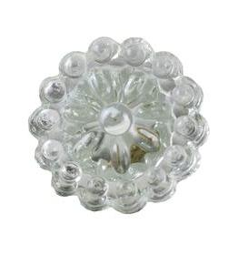 Charleston Knob Company Round Crystal Glass Clear Cabinet Knob