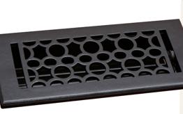 Deco & Deco 4X10 Cast Iron Art-Deco Floor Register Rust