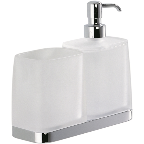 Colombo Design Time Collection Wall Mounted Soap Dispenser/Glass Holder