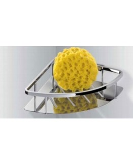 Colombo Designs Free Standing Triangle Soap Basket for Shower-Chrome