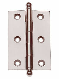 "Von Morris Hardware Five Knuckle-Loose Pin Mortise Cabinet Hinge 2.5"" x 2.5 """