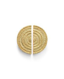 MICHAEL ARAM -GOLD TONE GOTHAM HALF ROUND CABINET PULL-2 HALVES