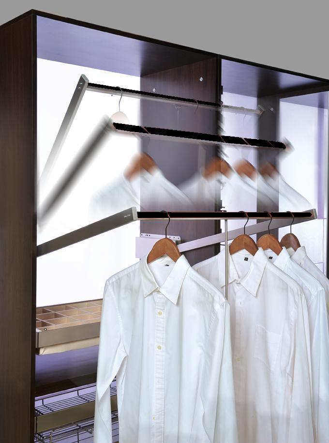 Inspire Pull Down Closet Rod Cabinet Organizers
