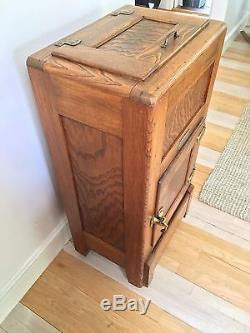 Antique Oak Hudson Ice Box Or Liquor Cabinet