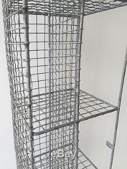 Vintage Pigeon Hole Corner Unit Mesh Wire Bathroom Shoe