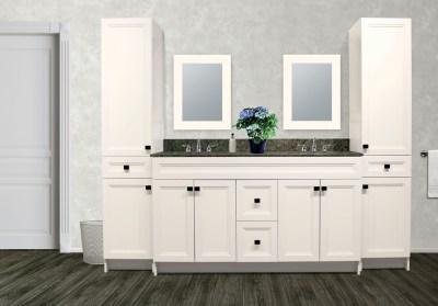 Impression Elegance Transitional Antique White Bath Furniture