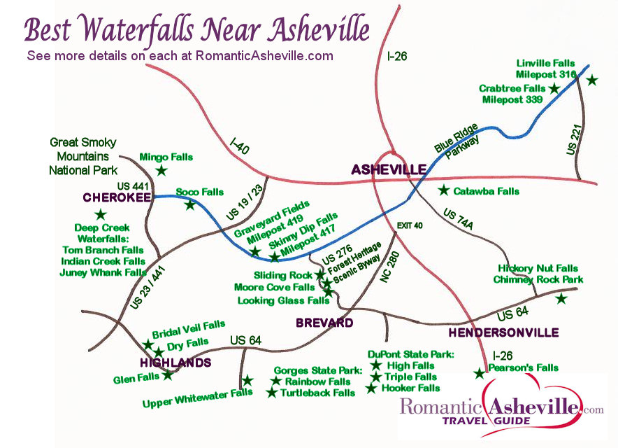Waterfalls Map