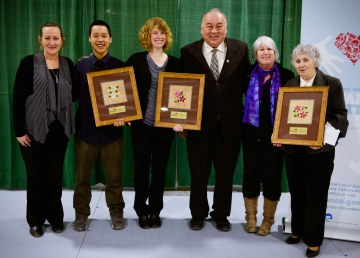 2017 winners of the NWT's Outstanding Volunteer Awards included Sheila O'Kane, Nigel Koplomik, Food Rescue, and Sudhir Jha (not pictured) - GNWT