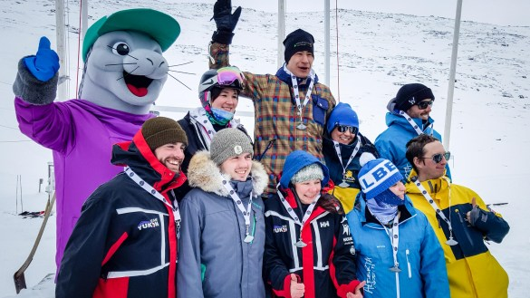 Arctic Winter Games competitors in 2016