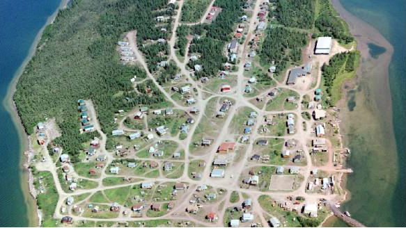 Lutselk'e viewed from above