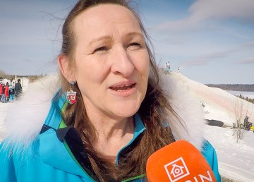 Caroline Cochrane, the minister of municipal and community affairs, at the 2018 Arctic Winter Games