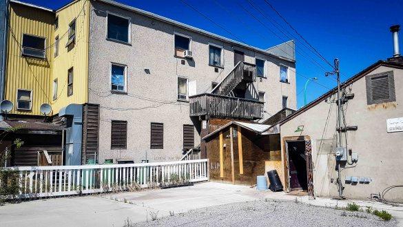 A downtown Yellowknife scene
