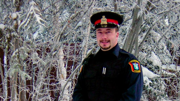 Doug Norrad wearing the uniform of a City of Yellowknife municipal enforcement officer in 2005