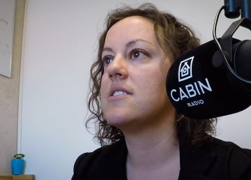 Rebecca Alty in Cabin Radio's Studio One