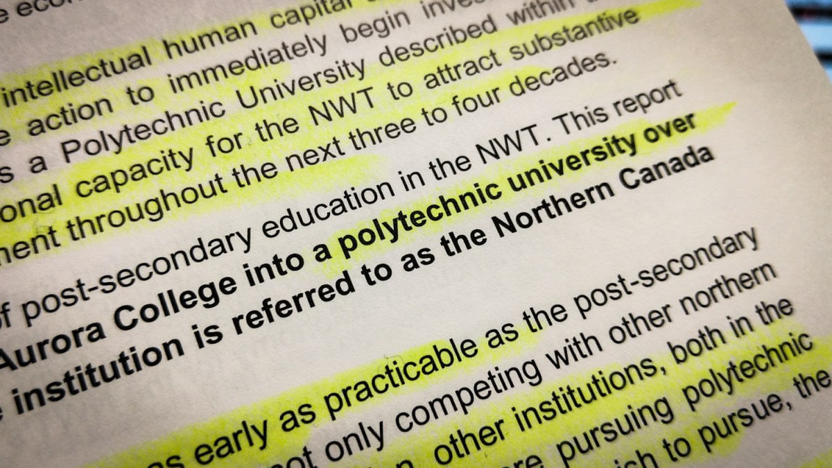 Strap yourselves in, the NWT's probably getting a university