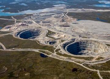 A view of the Ekati diamond mine