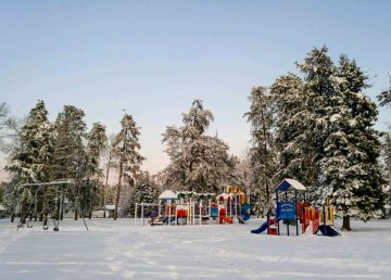 A file photo of children's playground facilities in the community of Fort Smith