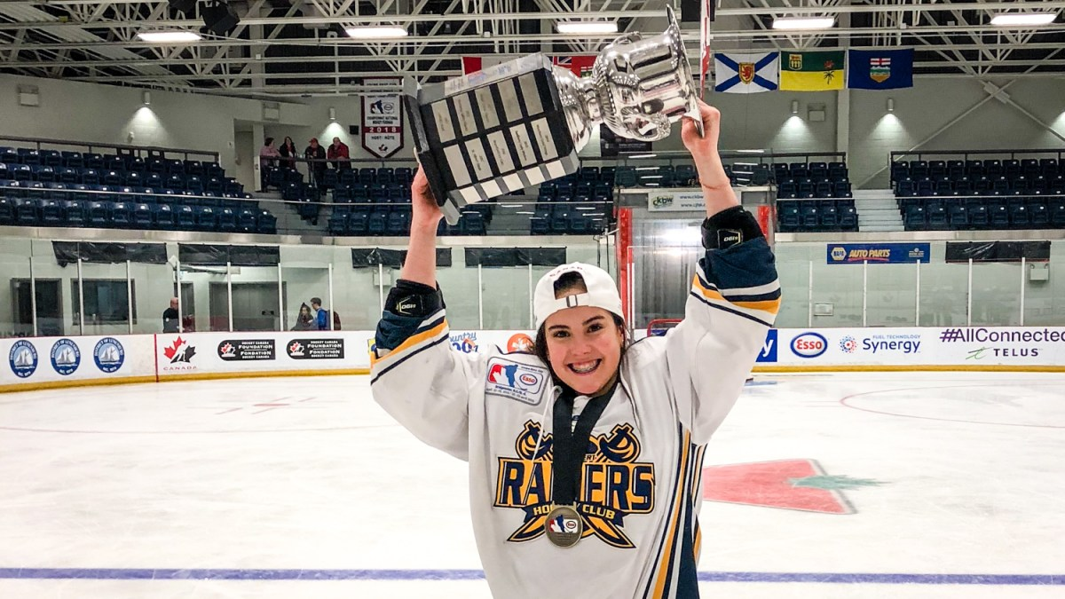 Fort Smith's Kiah Vail brings national hockey trophy home