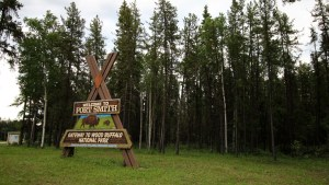 A sign greets visitors to Fort Smith