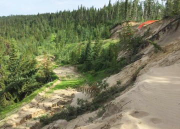 "A ""truicide"" landslide photo shared on Facebook earlier this evening. Patti-Kay Hamilton/Facebook"