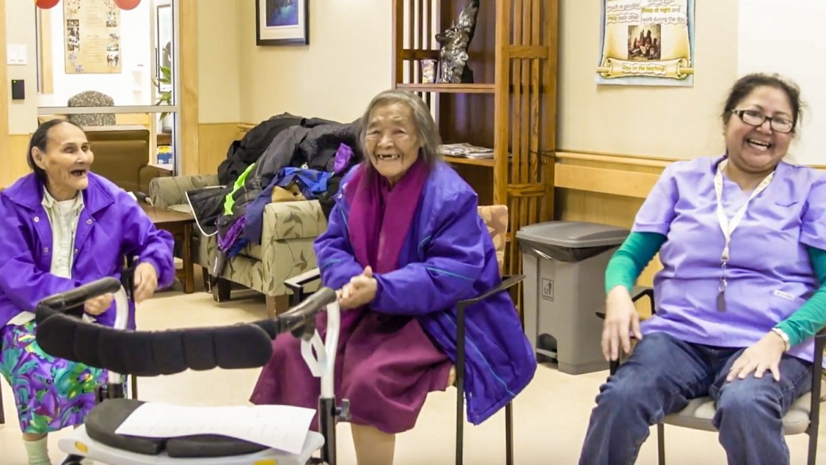 Yoga designed to replicate camp is hit with Behchokǫ Elders