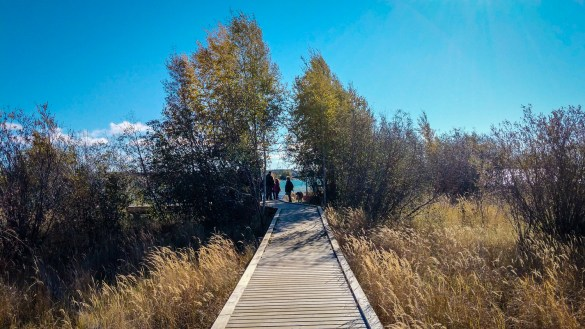The terminus of Yellowknife's Rotary Park boardwalk