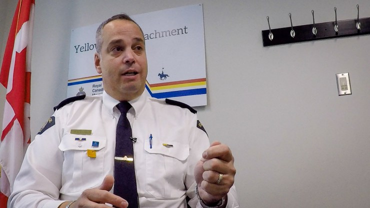 Inspector Alex Laporte, commander of Yellowknife's RCMP detachment