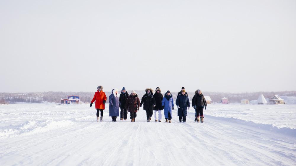 Ten percent of the territory is walking to Tuk