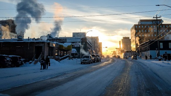 A view of downtown Yellowknife on February 2, 2019