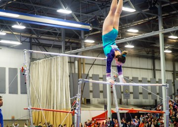 Team NT's gymnasts in action at the 2019 Canada Games in Red Deer
