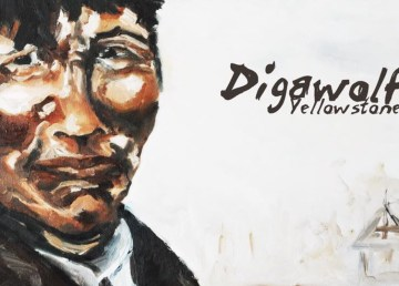 A detail from the cover of Digawolf album Yellowstone, released in February 2019