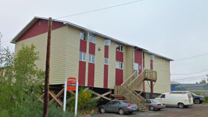 A Google Streetview image of Inuvik's Lakeview Apartment Complex