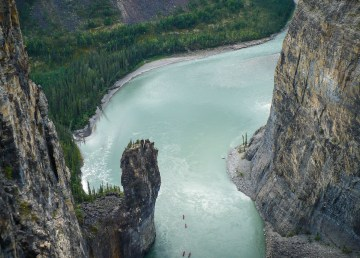 A view of 'the Gate' on the Nahanni River