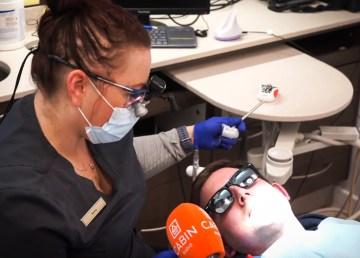 Ollie meets dental hygienist Sasha