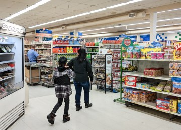 Shoppers inside Inuvik's Northmart